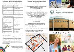 Ulotka - rekrutacja.uksw.edu.pl - Uniwersytet Kardynała Stefana