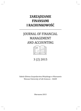 zarządzanie finansami i rachunkowość journal of financial