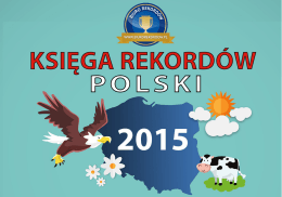 Księgi Rekordów Polski 2015 - CSL Internationale Spedition Sp. z oo