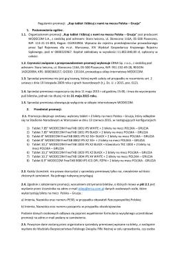 """Regulamin promocji: """"Kup tablet i kibicuj z nami na meczu Polska"""