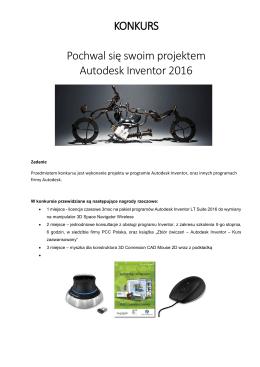 KONKURS Pochwal się swoim projektem Autodesk