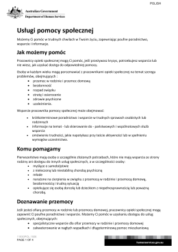Social Work Services - Polish - Department of Human Services