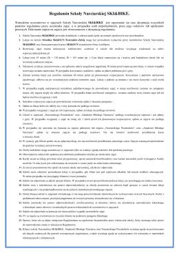 Regulamin Szkoły Narciarskiej SKI&BIKE.