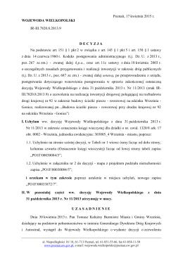 Decyzja - Wielkopolski Urząd Wojewódzki