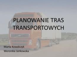 PLANOWANIE TRAS TRANSPORTOWYCH - WSL
