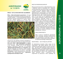 AGROPORADNIK nr 11/2015 - Top Farms Agro Sp. z oo