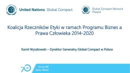 Kamil Wyszkowski – Dyrektor Generalny Global Compact w Polsce