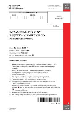 egzamin maturalny z języka niemieckiego poziom