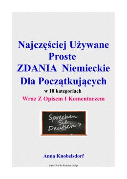 E-book Zdania niemieckie. - Z językiem niemieckim za pan brat