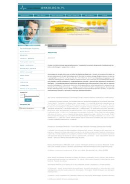 SERWISY MEDYCZNE :: Onkologia