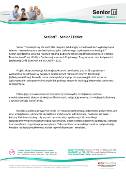 SeniorIT - Senior i Tablet