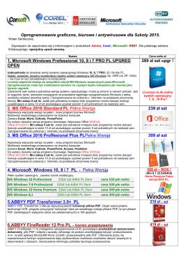 Oprogramowanie dla szkoly 2015
