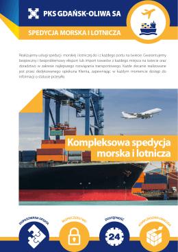 Kompleksowa spedycja morska i lotnicza