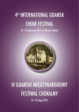 folder festiwalowy - gdansk choir festival