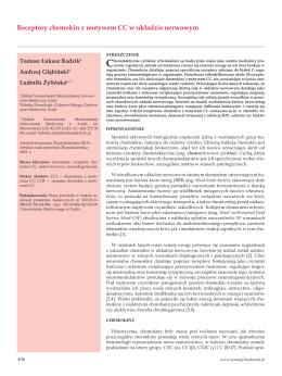 Receptory chemokin z motywem CC w układzie nerwowym