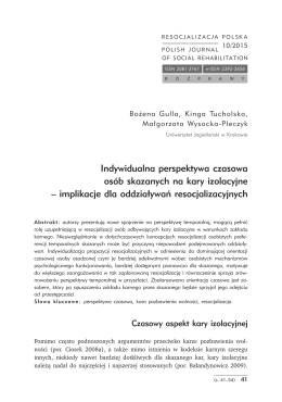 RP 10 (2015) - Polish Journal of Social Rehabilitation+