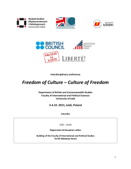 Freedom of Culture – Culture of Freedom