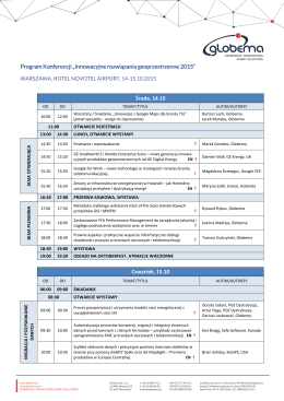 Program Konferencji - Konferencja
