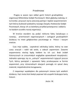 Przedmowa - PZHGP Grudziądz