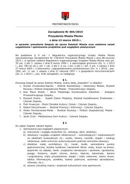 Zarządzeniem nr 404/2015