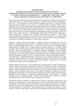 Sonnenburg/Słońsk Europejskie miejsce pamięci i nauki - VVN-BdA
