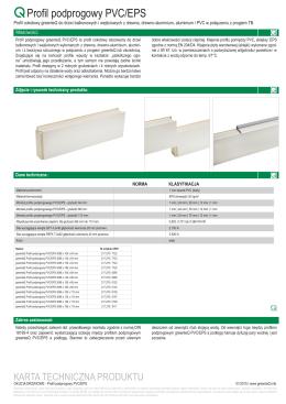 Profil podprogowy PVC/EPS
