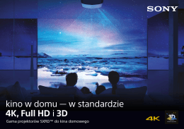 kino w domu — w standardzie 4K, Full HD i 3D