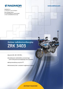 Motocyklowy system łączności radiowej ZRK 3403