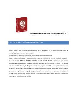 SYSTEM GASTRONOMICZNY FIS