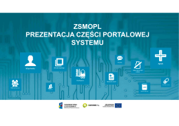ZSMOPL - Prezentacja części portalowej systemu ver 1
