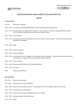 IV - Zjazd Użytkowników systemu EURECA