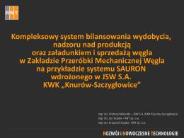 Systemu przetwarzania danych i sterowania