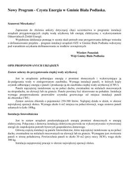 Ankieta zgłoszeniowa do programu