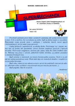 nr 9 – marzec – kwiecień 2015 - Zespół Szkół Ponadgimnazjalnych
