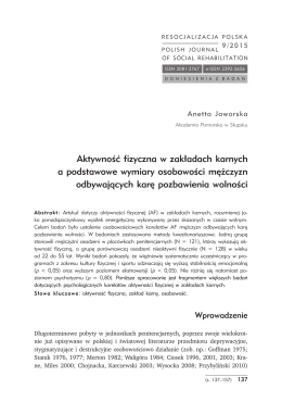 RP 9 (2015) - Polish Journal of Social Rehabilitation+Resocjalizacja
