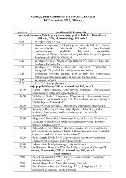 Roboczy plan konferencji HYDROMICRO 2015 14