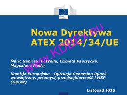 Nowa Dyrektywa ATEX 2014/34/UE
