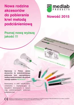 Nowa rodzina akcesoriów do pobierania krwi