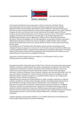 NOWA AMERIKA - Collegium Polonicum
