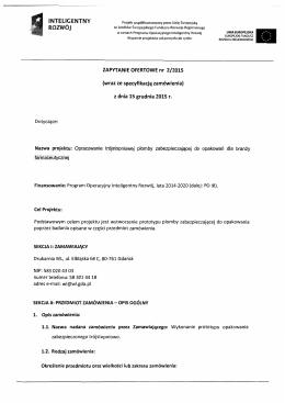 Zapytanie ofertowe nr 2/2015