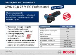 BOSCH GWS 10,8-76 V-EC karta produktowa