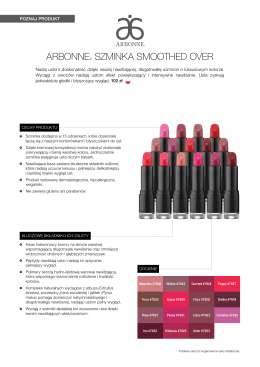 ARBONNE® SZMINKA SMOOTHED OVER