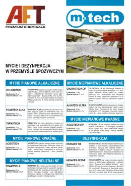 Przemysł spożywczy - ulotka do pobrania w formacie pdf. - M-tech