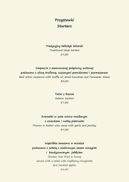 nasze menu