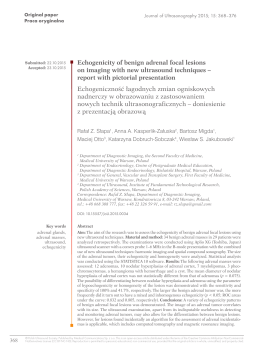 Echogenicity of benign adrenal focal lesions on imaging with new