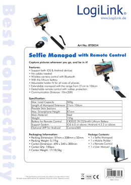 Selfie Monopod with Remote Control