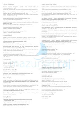 Startery/Starters Sałatki/Salads Zupy/Soups Raj