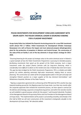 Agreement with Grupa Azoty
