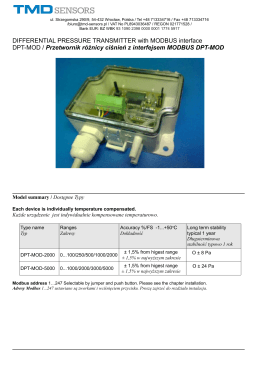 DIFFERENTIAL PRESSURE TRANSMITTER with