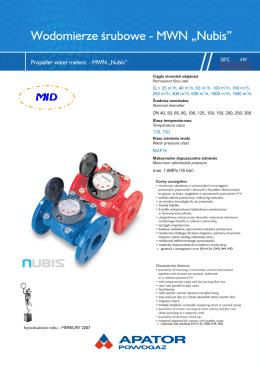zgodność z wymaganiami norm EN14154, OIML R49